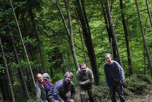 Lesní brigáda David, Václav, Petr, Míra DSC_1114